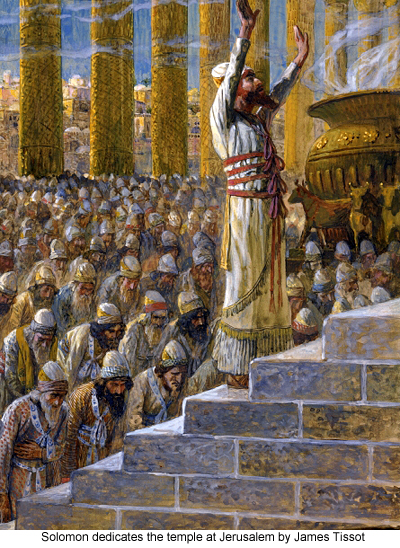 Solomon dedicates the temple at Jerusalem by James Tissot