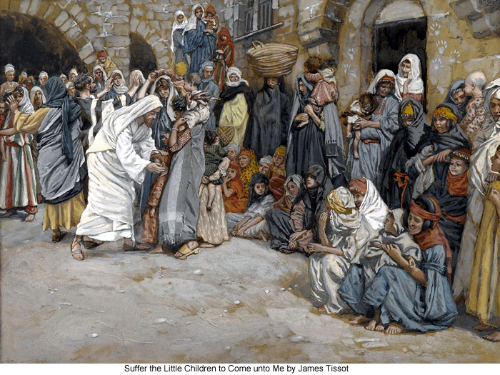 Suffer the Little Children to Come unto Me by James Tissot