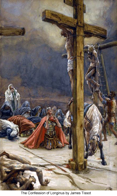 The Confession of Longinus by James Tissot