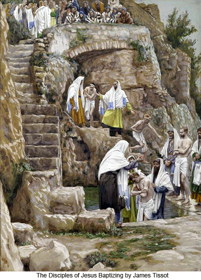The Disciples of Jesus Baptizing by James Tissot