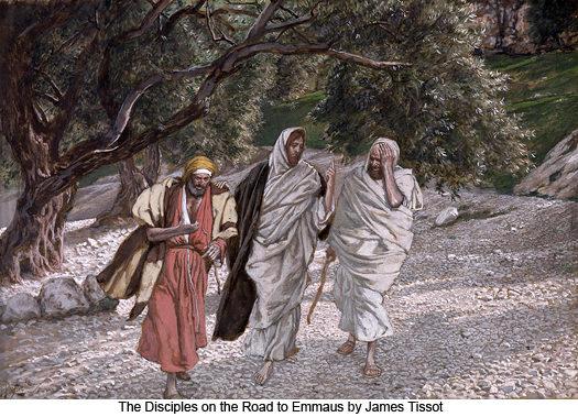 The Disciples on the Road to Emmaus by James Tissot