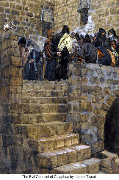 The Evil Counsel of Caiaphas by James Tissot