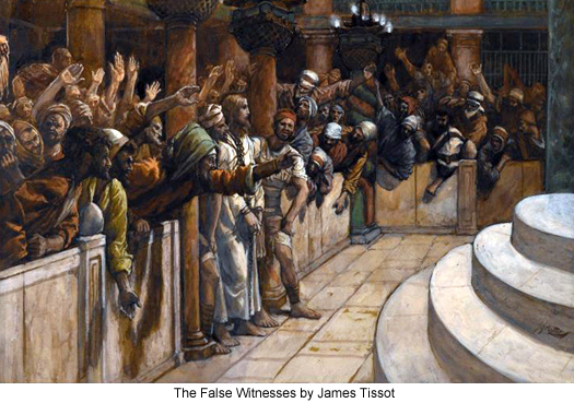 The False Witnesses Before Caiaphas by James Tissot