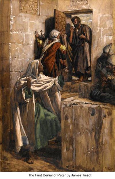 The First Denial of Peter by James Tissot