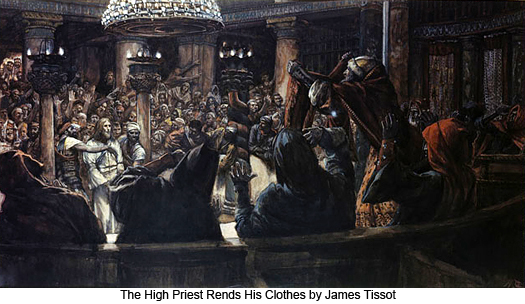 The High Priest Rends His Clothes by James Tissot