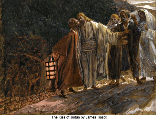 The Kiss of Judas by James Tissot