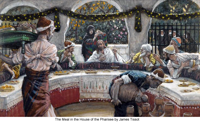 The Meal in the House of the Pharisee by James Tissot