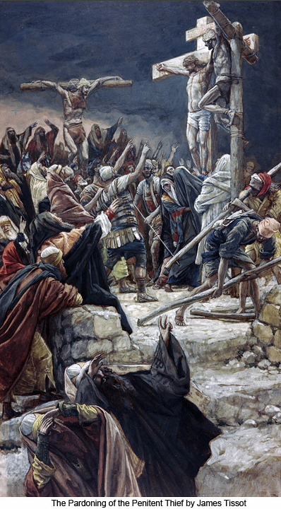 The Pardoning of the Penitent Thief by James Tissot