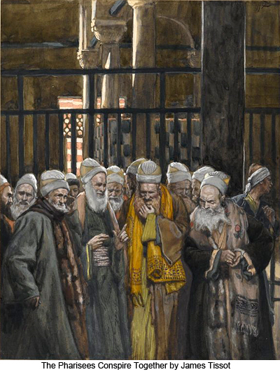 James_Tissot_The_Pharisees_Conspire_Toge