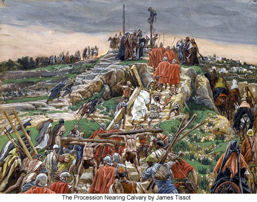 The Procession Arriving at Calvary by James Tissot