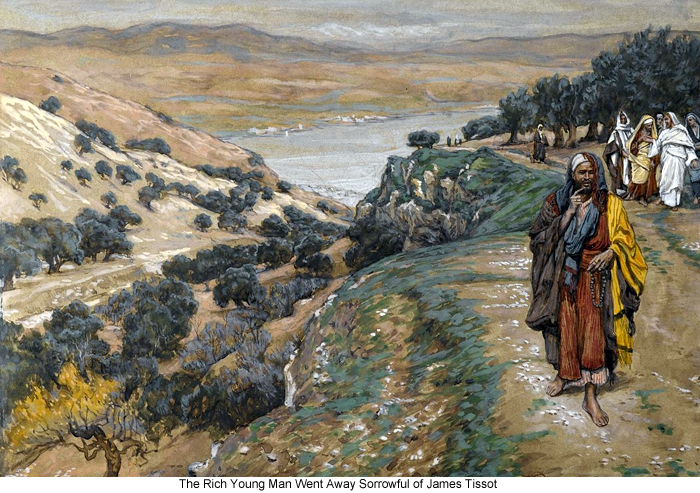 The Rich Young Man Went Away Sorrowful of James Tissot