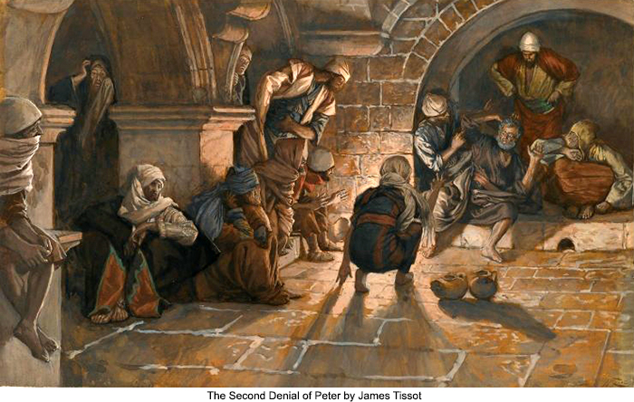 The Second Denial of Peter by James Tissot