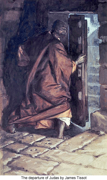 The Departure of Judas by James Tissot