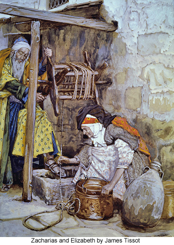 Zacharias and Elizabeth by James Tissot