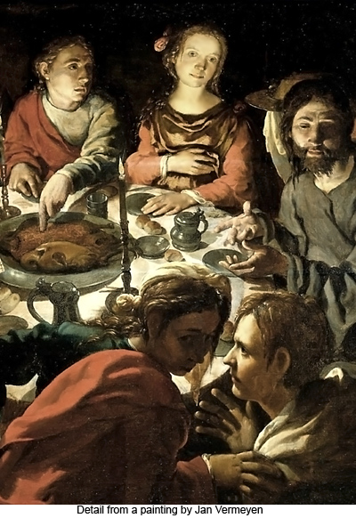 Marriage at Cana (detail) by Jan van Vermeyen