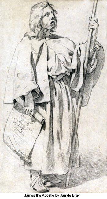 James the Apostle by Jan de Bray