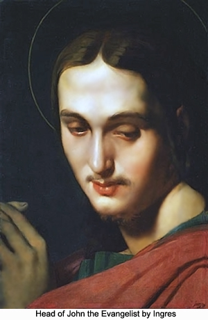 Head of John the Evangelist by Ingres