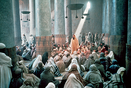 Jesus Preaches in the Temple