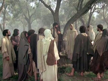 Jesus ordains the twelve apostles