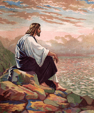 Jesus Meditating by the Sea of Galilee