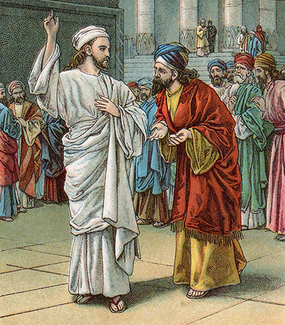 Jesus and the Sadducees and Pharisees