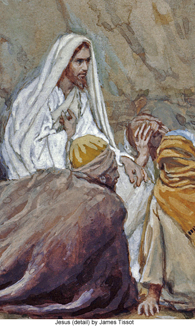 Jesus (detail) by James Tissot