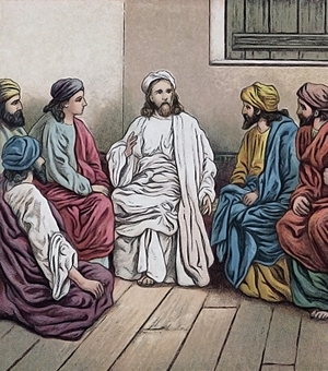 Jesus teaching the disciples