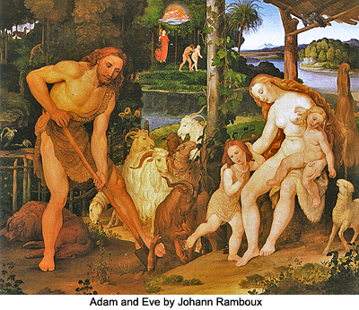 Adam and Eve by Johann Ramboux