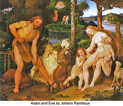 Adam and Eve by Johann Ramboux