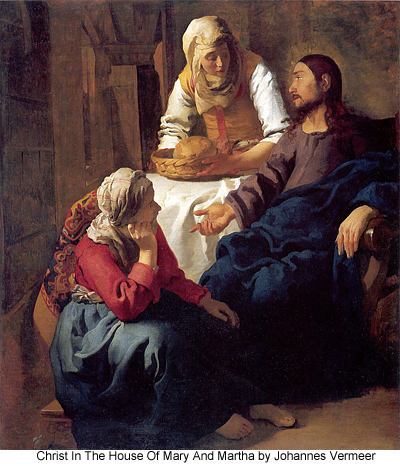 Christ in the home of Mary and Martha by Johannes Vermeer