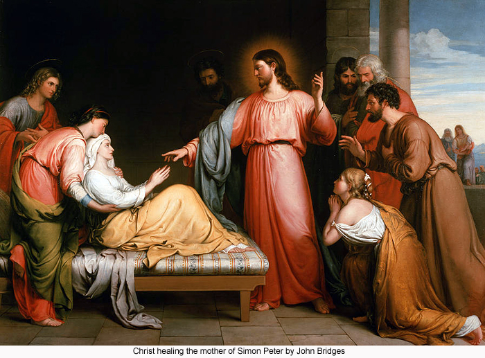 Image result for jesus heals simon's mother in law