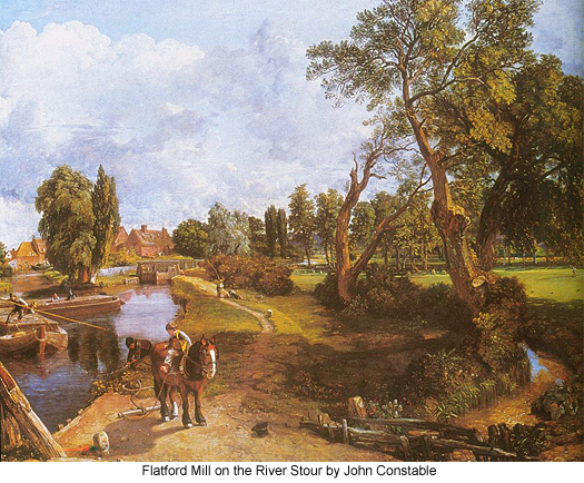 Flatford Mill on the River Stour by John Constable