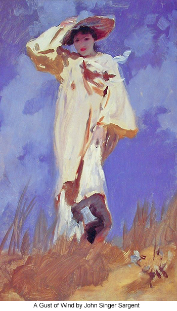 A Gust of Wind by John Singer Sargent