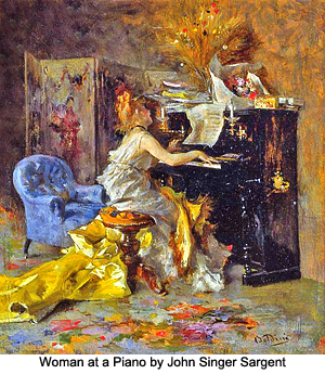 Woman at a Piano by John Singer Sergeant