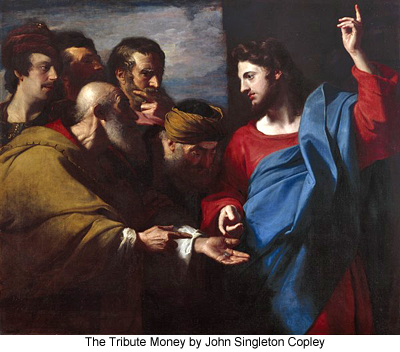 The Tribute Money by John Singleton Copley