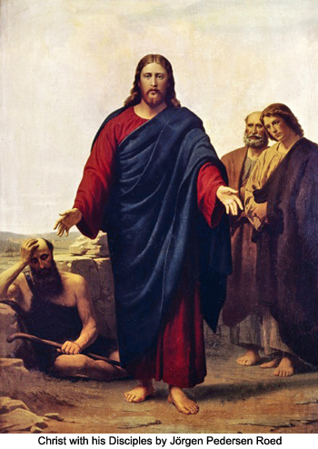 Christ with his Disciples by Jørgen Pedersen Roed