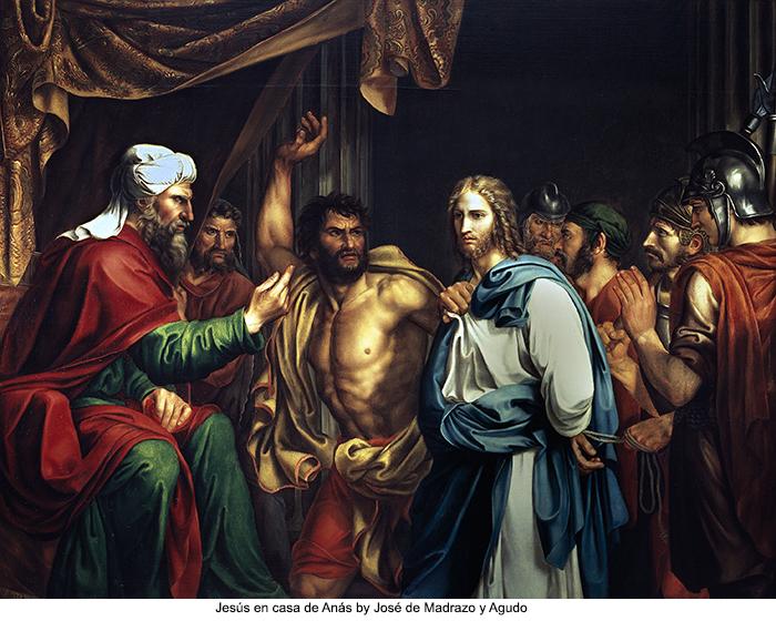Jesús en casa de Anás by José de Madrazo y Agudo