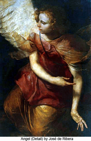 Angel (detail) by Jose de Ribera