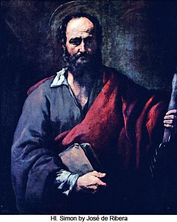 HI. Simon by Jose de Ribera