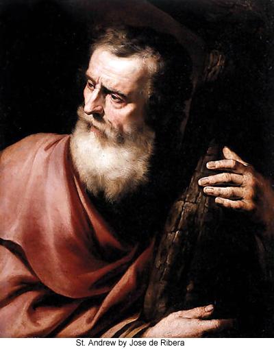 St. Andrew by Jose de Ribera