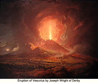 Eruption of Vesuvius by Joseph Wright of Derby