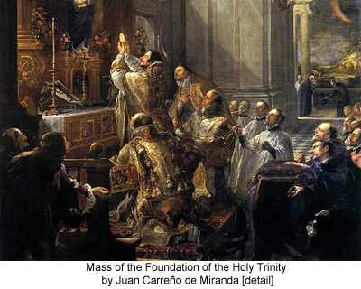 Mass of the Foundation of the Holy Trinity by Juan Carreño de Miranda [detail]