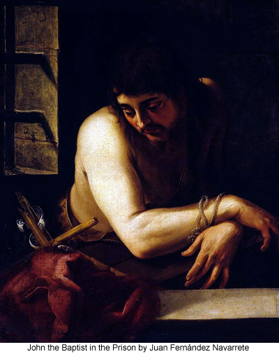 John the Baptist in the Prison by Juan Fernández Navarrete