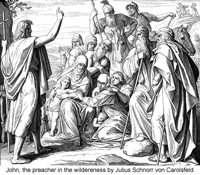 John, the preacher in the wildereness by Julius Schnorr von Carolsfeld