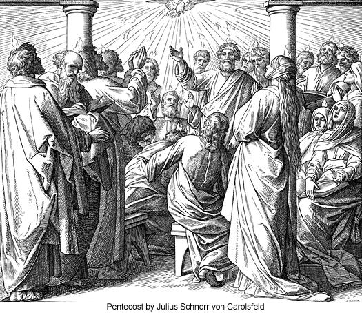 Pentecost by Julius Schnorr von Carolsfeld