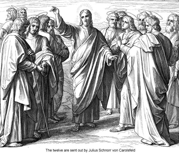 The twelve are sent out by Julius Schnorr von Carolsfeld