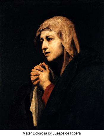 Mater Dolorosa by Jusepe de Ribera