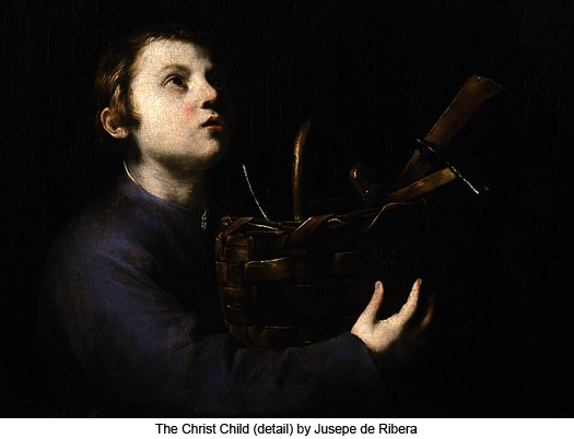 The Christ Child (detail) by Jusepe de Ribera