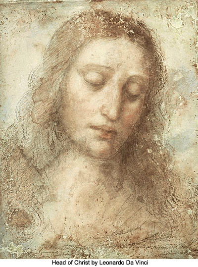 Head of Christ by Leonardo Da Vinci