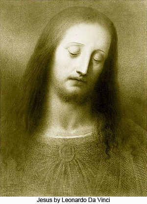 Jesus by Leonardo Da Vinci